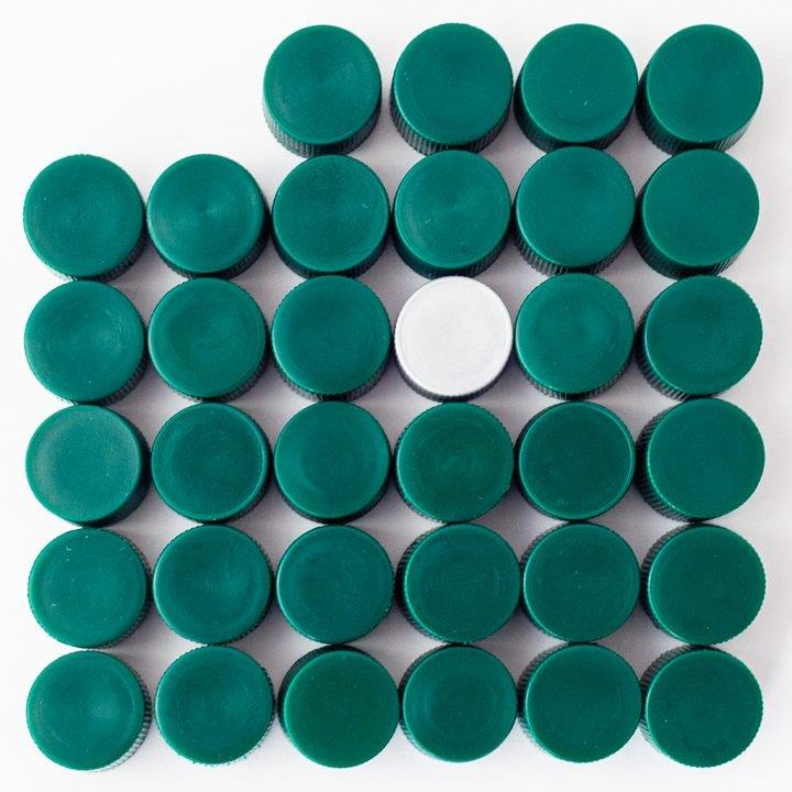 Capsule in plastica colore verde - BosisioFrancesco